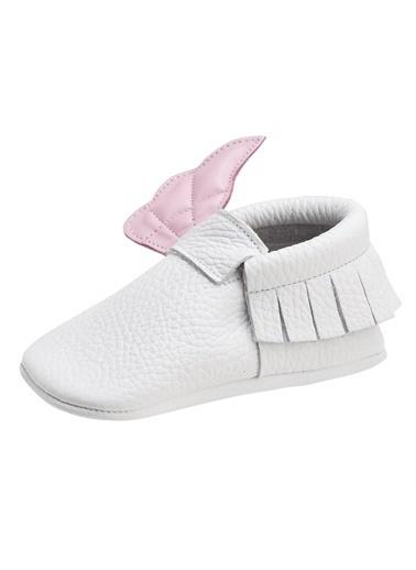 Moots Moots Beyaz Pembe Kanatlı Ayakkabı Beyaz